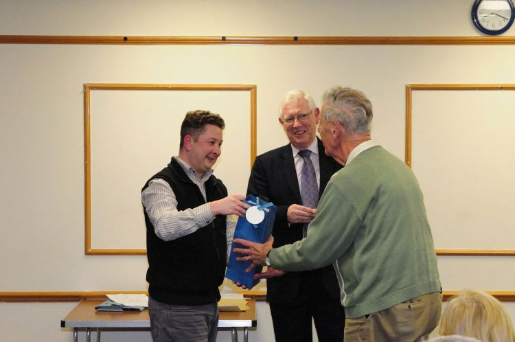 Special presentation to Gordon Hillier as thanks for his work in setting up the Website Association